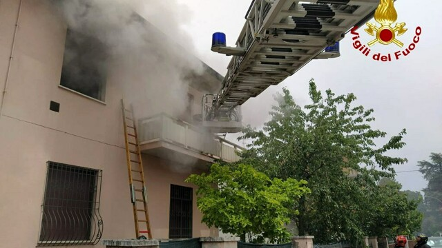 incendio in via Magnani