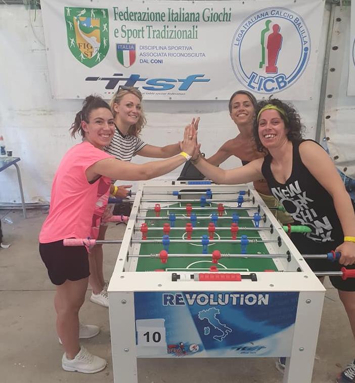Fratta Terme calcio balilla finaliste donne