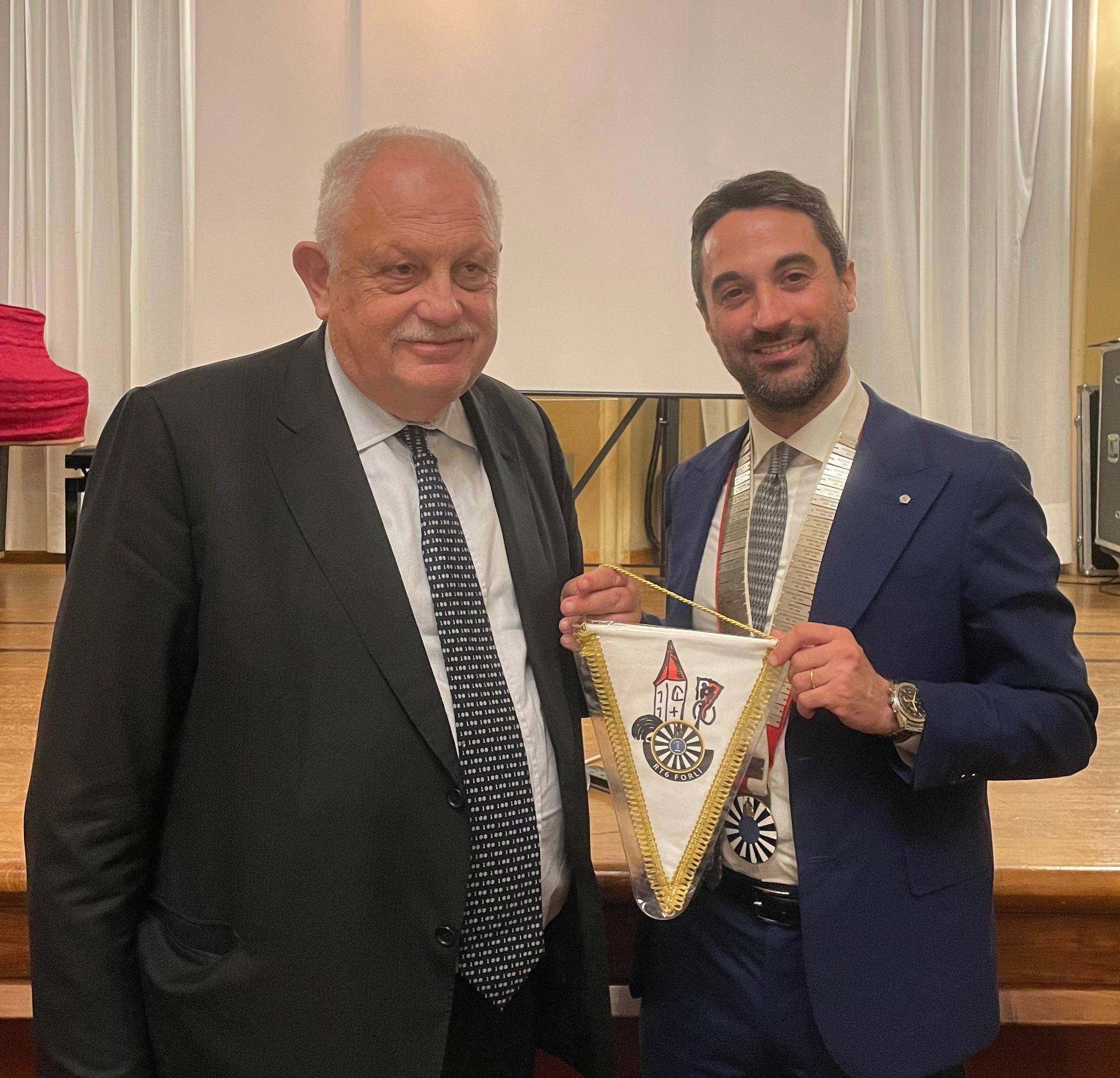 Giancarlo Mazzuca con il presidente RT6 Federico Fabbri