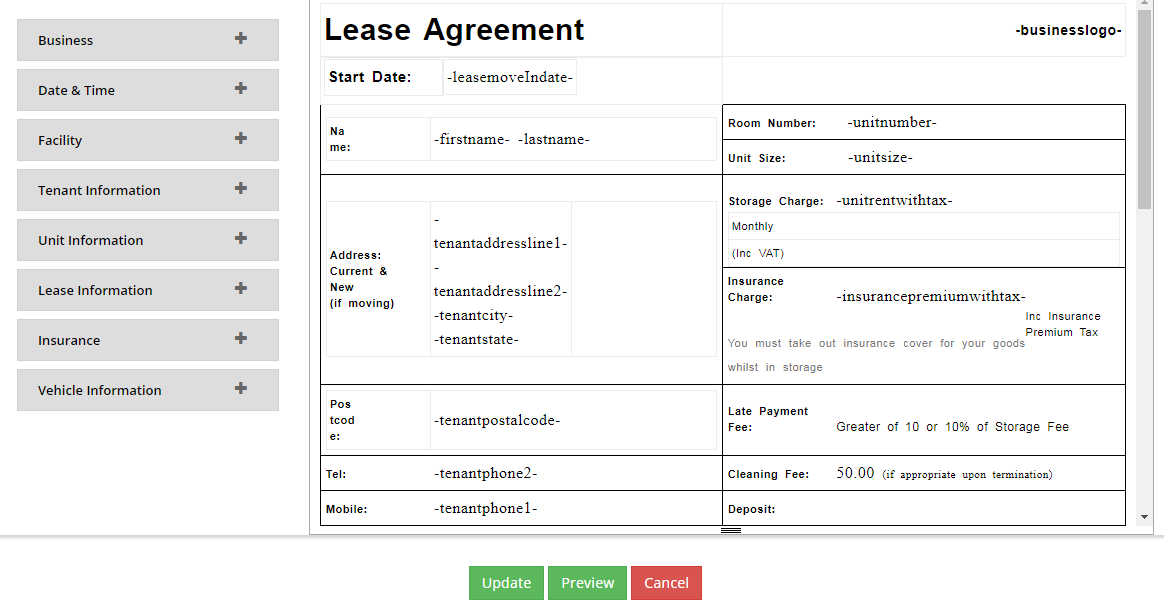 Customized Agreement