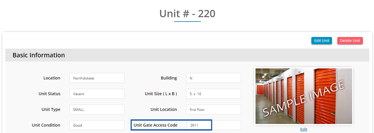 Unit Based Gate Code