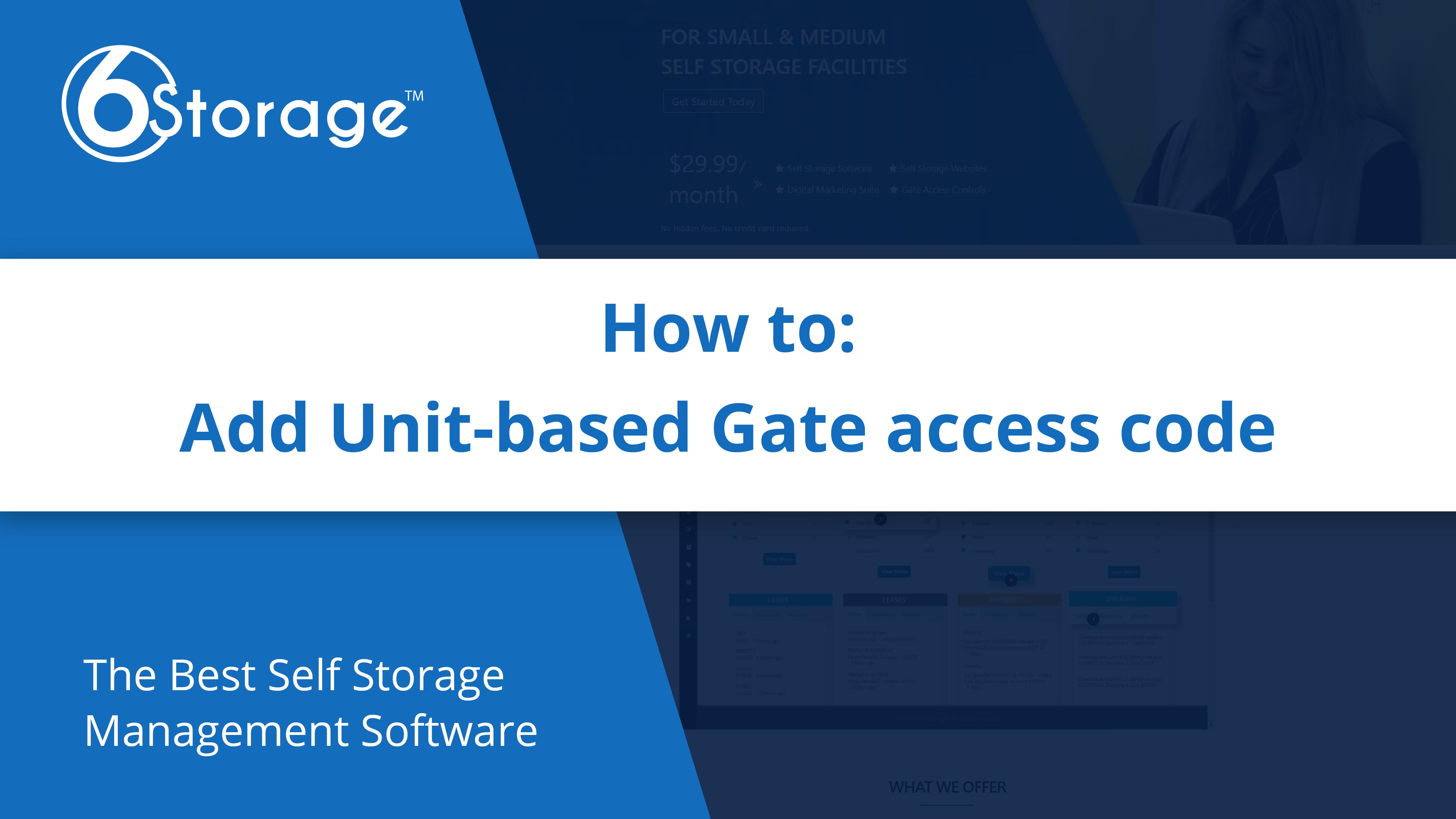 Unit Based Gate Access