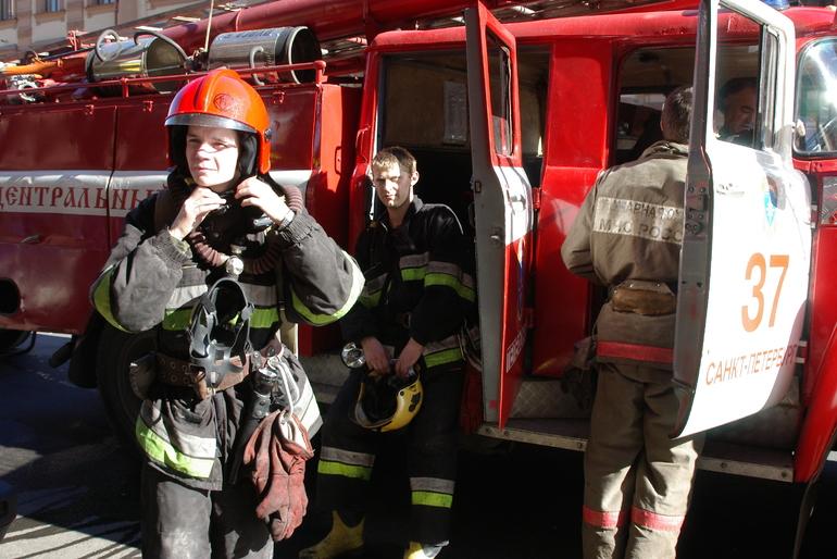 Появились подробности пожара в автобусе в Адмиралтейском районе