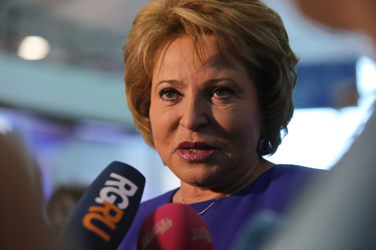 Матвиенко сообщила, что ее пенсия составляет 25 тысяч рублей
