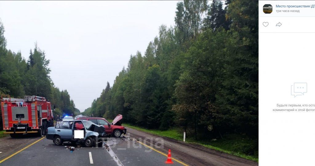 Два человека погибли в аварии под Лугой