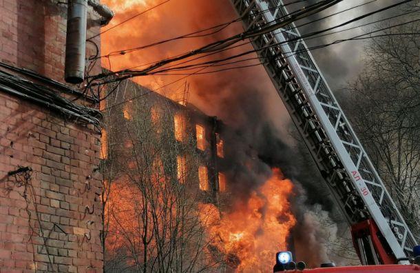 Пожар на Невской мануфактуре потушили только на пятый день