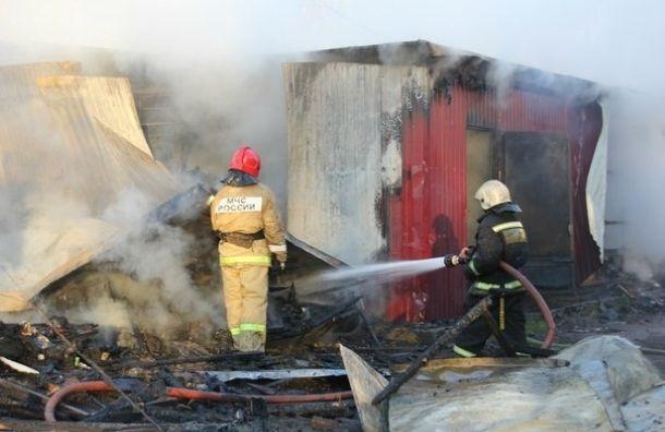 Таможенный склад полыхает в Красногвардейском районе