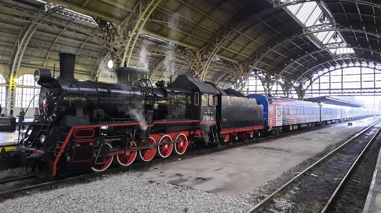 В Петербург прибыл передвижной музей «Поезд Победы»