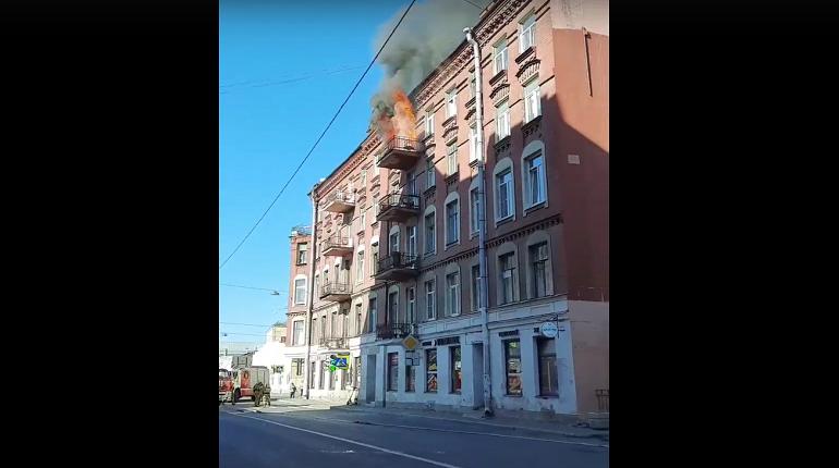 В пожаре на Пионерской улице пострадал человек