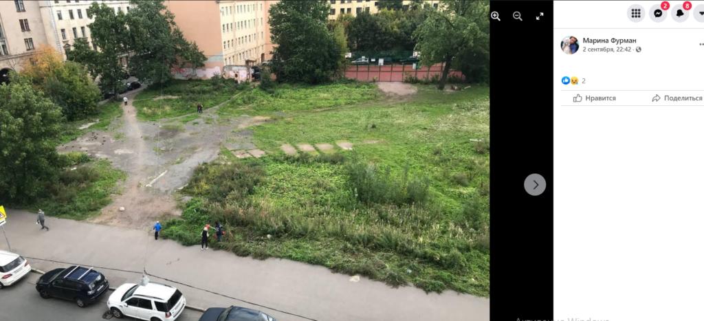 Жители Петроградской стороны жалуются на «облысевший» Общественный сад