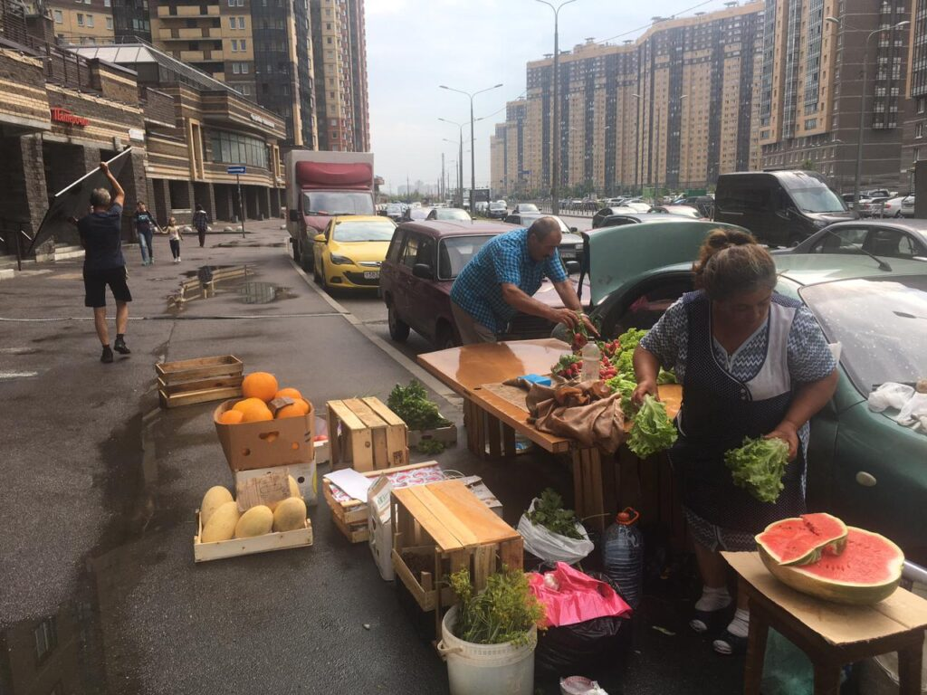 За нелегальную продажу арбузов, дынь и овощей в Петербурге закрыли 40 торговых точек