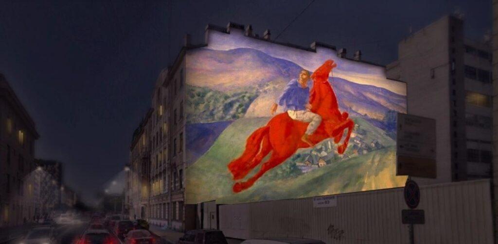 В Петербурге на фасаде дома появится светопроекция картины Петрова-Водкина