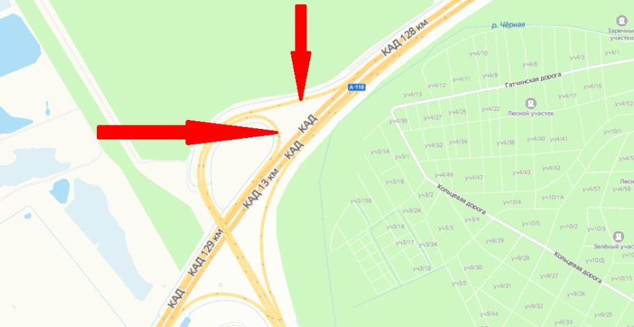 На КАД полностью перекроют два съезда на Парашютную улицу