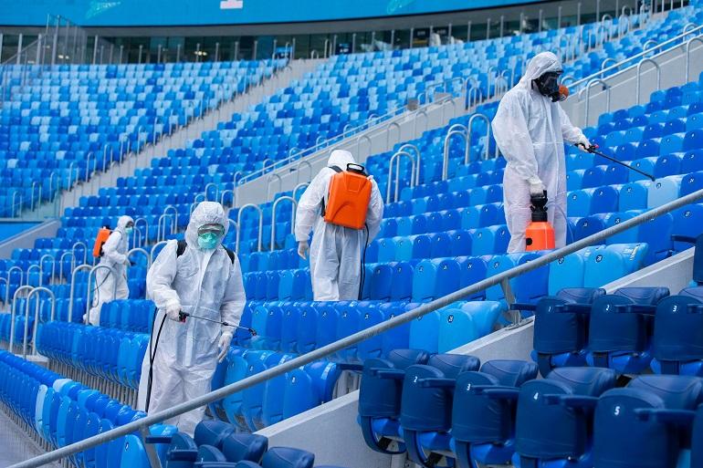 На матч «Зенит»- «Спартак» пустят только в масках и перчатках