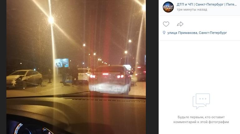 На Краснопутиловской улице подрались два водителя, одного из них сбили