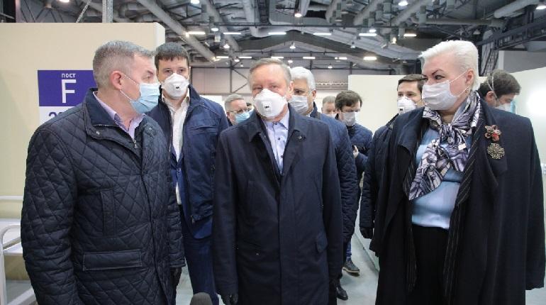 Беглов заявил о расширении коечной мощности в «Ленэкспо»