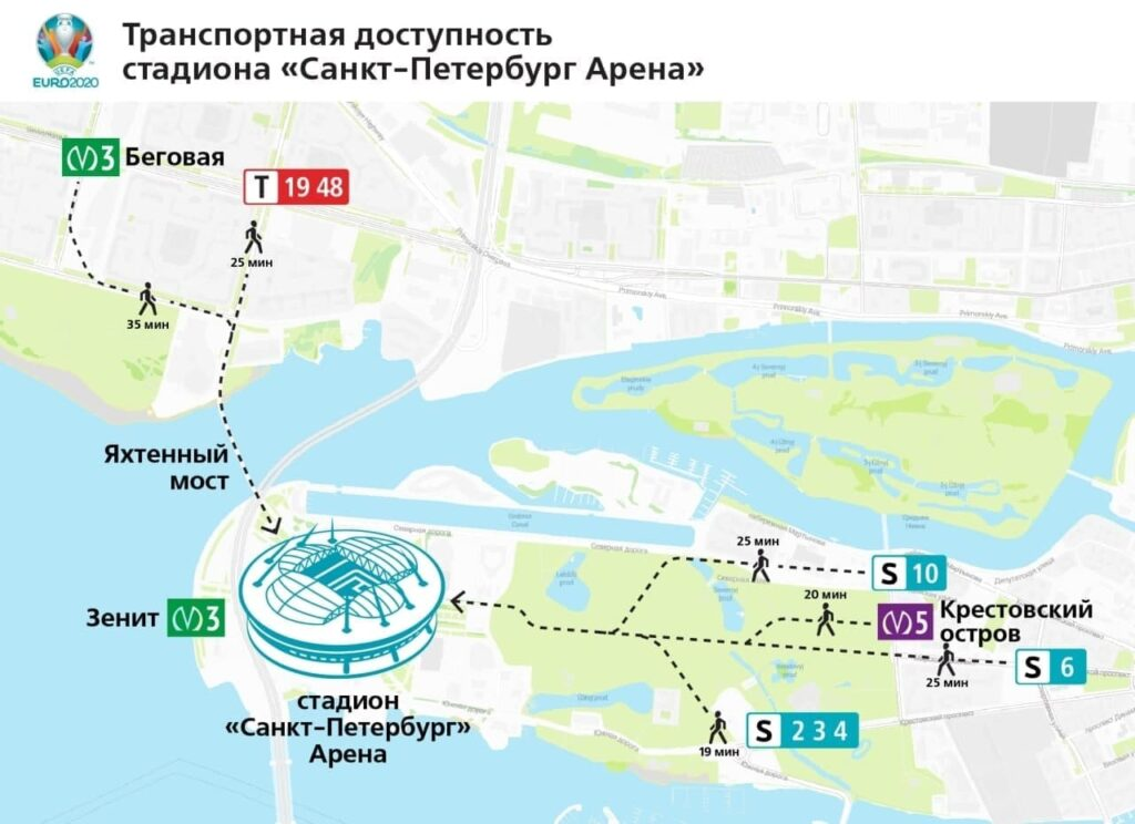 Комтранс рассказывает, как добраться до матча четвертьфинала Евро-2020 в Петербурге