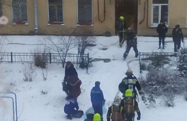 Квартира горит на 14-й линии Васильевского острова