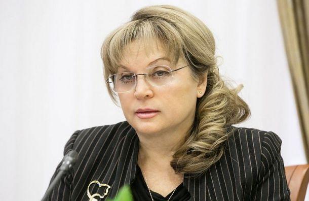 Памфилова обещала жесткие меры к нарушителям на выборах в Санкт-Петербурге