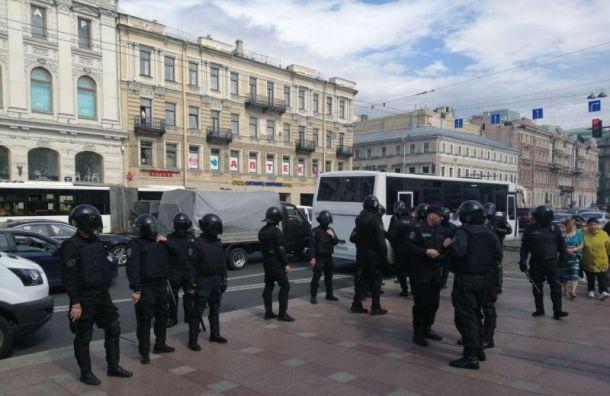 Задержания начались в Санкт-Петербурге на акции за честные выборы