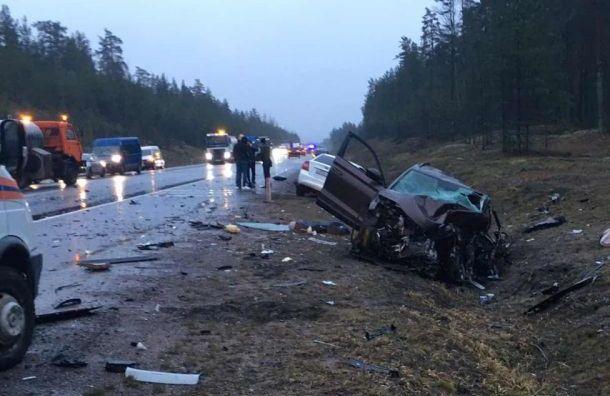 Четыре легковушки столкнулись на трассе «Скандинавия»