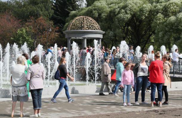 Первый пешеходный фонтан открылся в Санкт-Петербурге