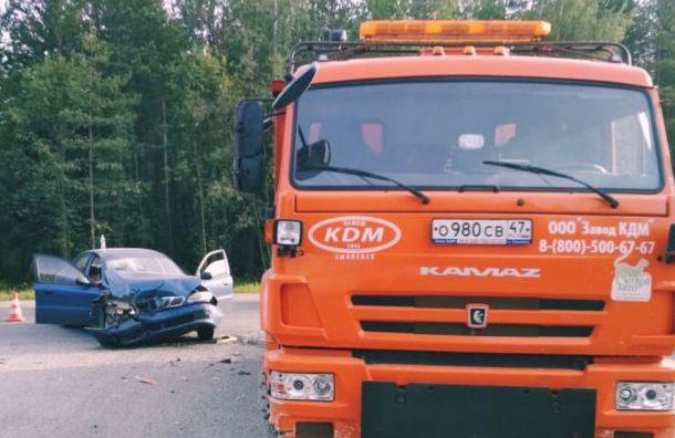Пожилая женщина погибла в аварии с КамАЗом на Сортавале