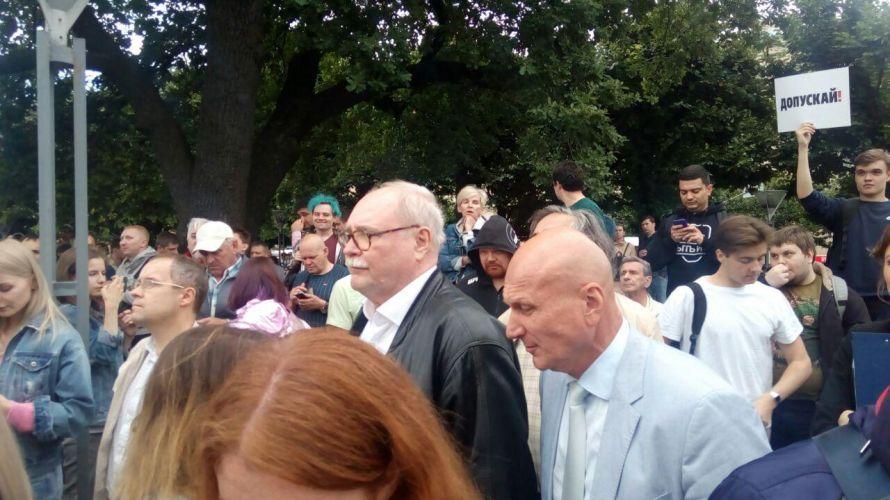 Митинг на площади Ленина начался со слов: «Беглов — позор Санкт-Петербурга»