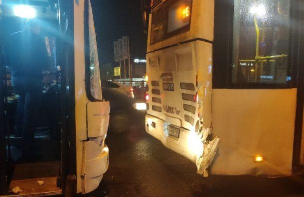 Автобусы столкнулись на Таллинском шоссе