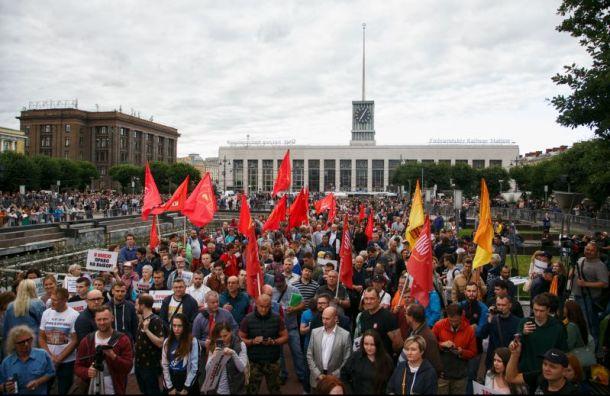 Митингующие за честные выборы потребовали отставки Макарова