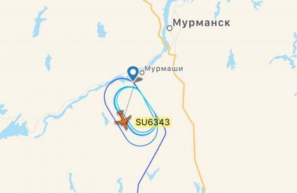 Самолет из Санкт-Петербурга не смог долететь до Мурманска