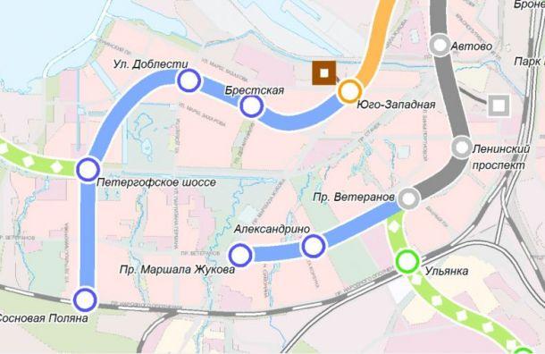 Проект коричневой ветки метро обойдется Смольному в 990 млн руб.