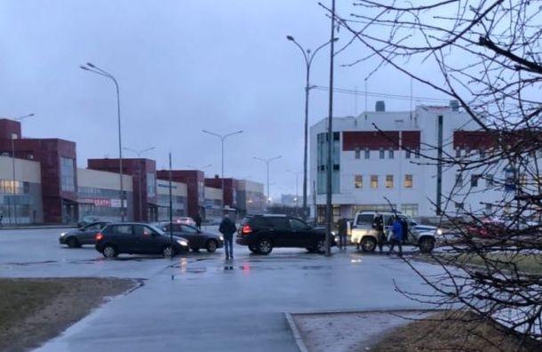 Автолюбитель врезался в полицейский патруль на Стародеревенской ул.