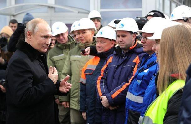 Путин торжественно открыл скоростную трассу М-11