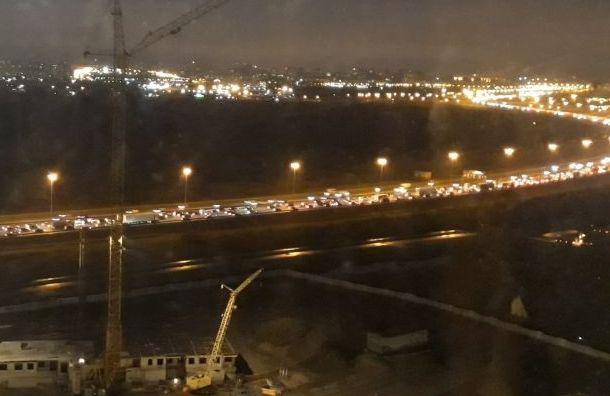 Вечерние пробки в Санкт-Петербурге достигли 8 баллов