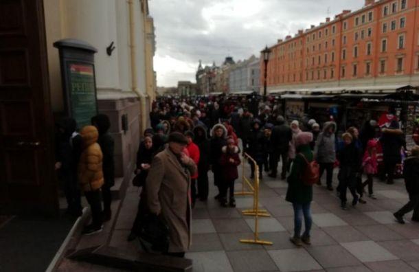Выставка Репина собрала огромную очередь из петербуржцев и гостей города