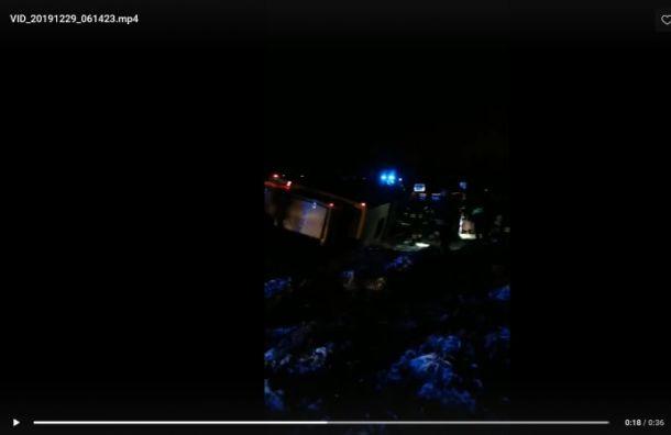 Автобус с петербуржцами перевернулся в Эстонской республики