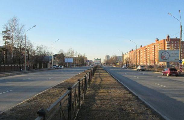 Участок Выборгского шоссе у КАД отремонтируют за 163 млн руб.