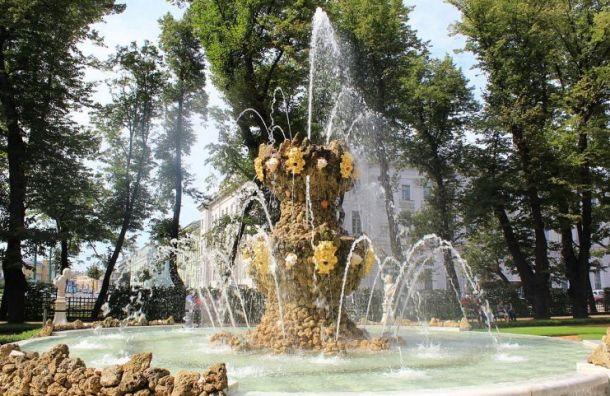 Сезон фонтанов в Санкт-Петербурге завершается