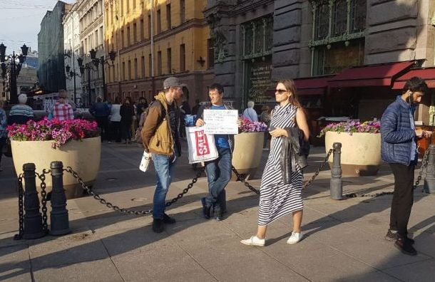 Активиста Мусина задержали во время пикета на Малой Садовой