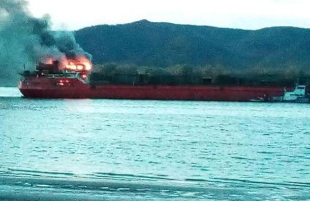 Сухогруз из Санкт-Петербурга загорелся на Волге