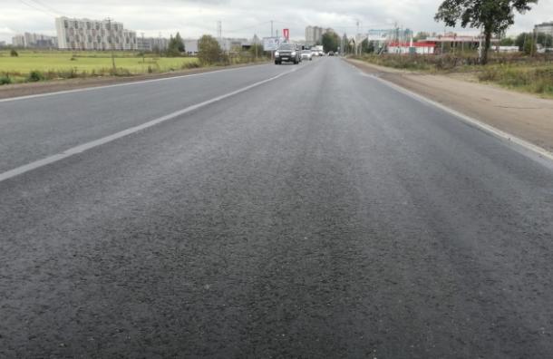 Отремонтировали единственную дорогу, соединяющую Бугры и Санкт-Петербург