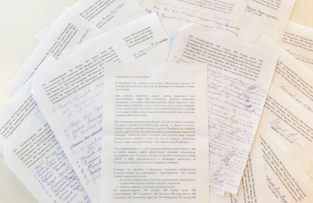 Кандидаты в мундепы попросили главу ЦИК отменить выборы