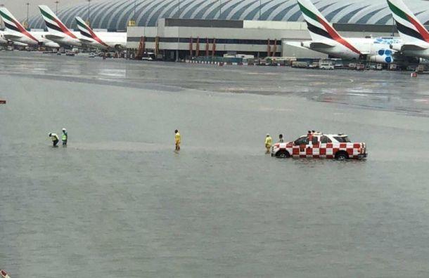 Рейсы в Дубай задерживаются из-за потопа в аэропорту