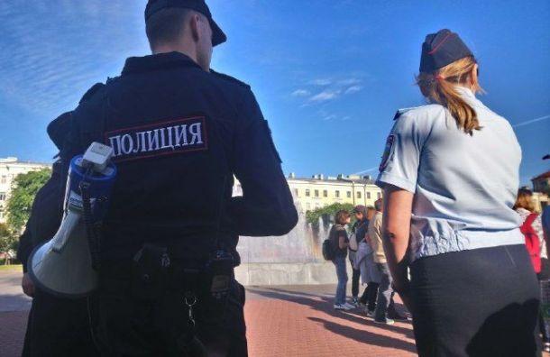 Полиция уже с утра готовится к митингу на площади Ленина