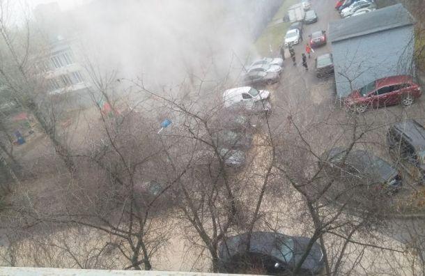 Машины на Витебском проспекте залило кипятком