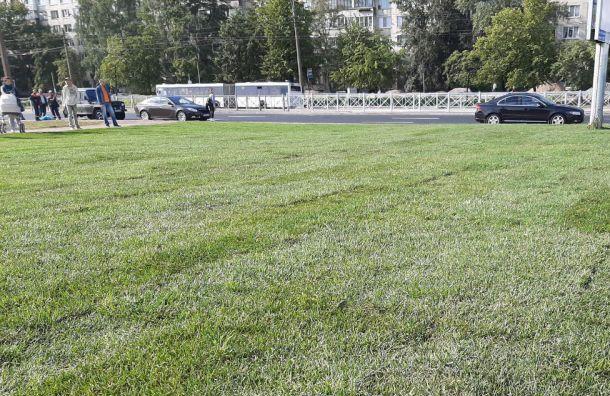 Рядом с новыми станциями Фрунзенского радиуса настелили газоны