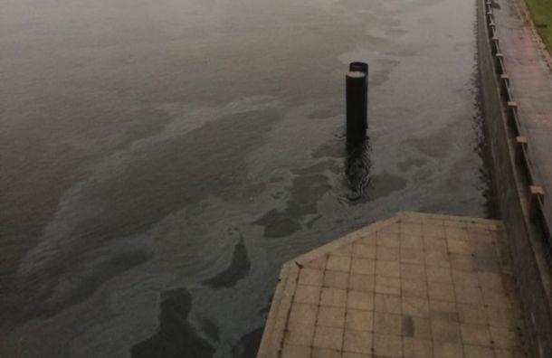 Петербуржцы заметили масляные пятна на поверхности Невы