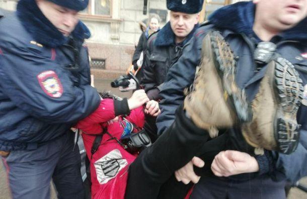Суд оштрафовал активистку на 10 тысяч руб. за одиночный пикет у Зак. собрания