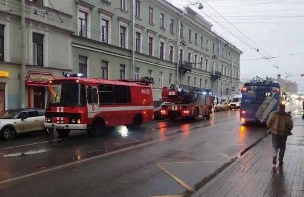 Из горящего дома в центре Санкт-Петербурга спасли пожилую женщину